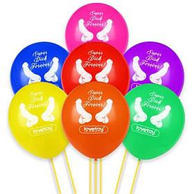 Воздушные шары с пенисами Super Dick Forever для девичника - 7 штук