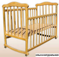"""Детская кроватка колыбель  """"Славянка"""" ольха"""