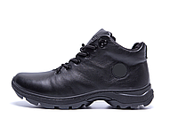 Чоловічі зимові шкіряні кросівки Black leather р., фото 1