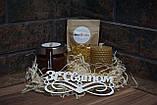 Святковий Медовий Набір на День Народження від Maxs Bee: Крем-Мед Шоколад + Мигдаль, Свічка. Пилок у подарунок, фото 6