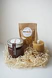 Святковий Медовий Набір на День Народження від Maxs Bee: Крем-Мед Шоколад + Мигдаль, Свічка. Пилок у подарунок, фото 3
