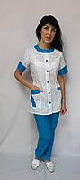 Жіночий медичний костюм Фантазія короткий рукав, фото 1