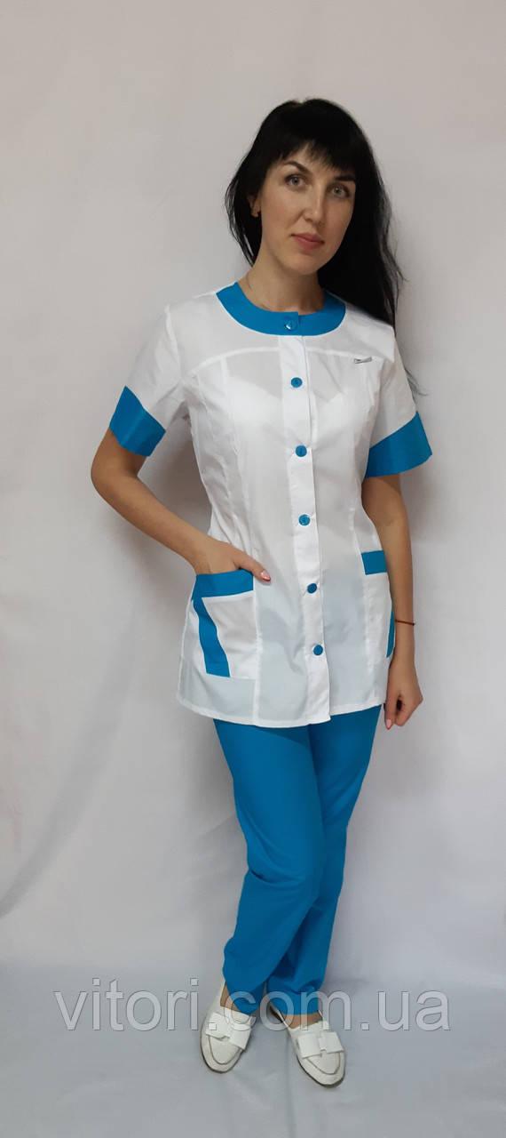 Жіночий медичний костюм Фантазія короткий рукав