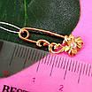 Булавка из золота 585 пробы - Женская золотая булавочка цветочек, фото 5