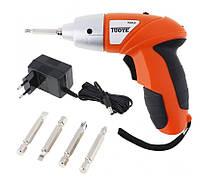 Электроотвертка Tools Tuoye Cordless Screw шуруповерт с 4мя битами от сети 220V 4 биты! Хит продаж