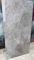 Керамогранитная плитка Marmolino Grey, нескользкий керамогранит напольный под итальянский мрамор Бьянко, фото 1