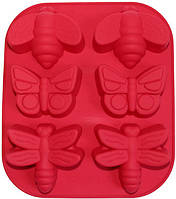 """Силиконовая форма-планшет Hauser """"Бабочки"""" 28х24см HH-574"""