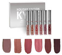 Губная матовая помада (набор 6 шт) Kylie Holiday Edition (8613)! Топ продаж