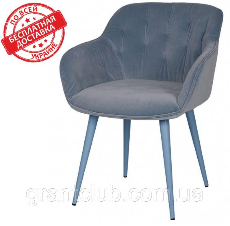 Кресло VIENA велюр голубой Nicolas (бесплатная доставка)