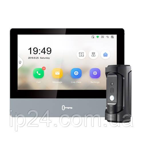 Hikvision DS-KH8350-TE1+DS-KB8112-IM комплект IP домофона