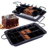 Антипригарная форма для выпекания пирожных Perfect Brownie, для порционной выпечки! Хит продаж