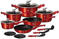 Набор кухонной посуды Berlinger Haus Burgundy 15 предметов BH-1226N