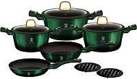 Набор кухонной посуды Berlinger Haus Emerald Collection 10 предметов BH-6065