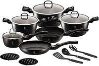 Набор кухонной посуды Berlinger Haus Black Silver 15 предметов BH-6155