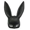 Маска кролик чорна (матова)