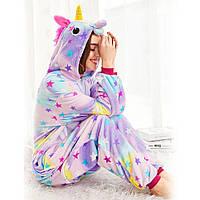 Пижама Кигуруми для взрослых Комбинезон с капюшоном для дома Оригинальный костюм Звездный единорог для