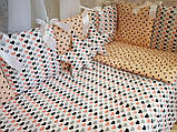 """Комплект """"Elite"""" в детскую кроватку, розовый с коронами, фото 2"""