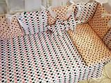 """Комплект """"Elite"""" в детскую кроватку, розовый с коронами, фото 3"""