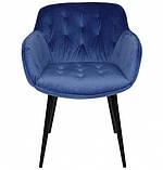Кресло VIENA синий велюр Nicolas (бесплатная доставка), фото 5