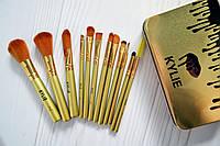 Кисточки для макияжа Kylie professional brush set 12 штук золото!Топ Продаж