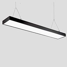 Линейный LED светильник подвесной 48Вт 1200мм 6500К черный на тросах