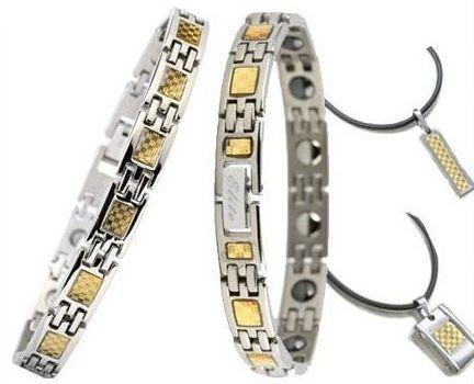 Турмалиновые браслеты с кулонами (муж и жен) набор