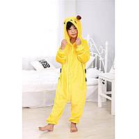 Пижама Кигуруми для детей Комбинезон с капюшоном для девочек Костюм Пикачу на рост 140 см ALMA-11-277623