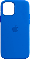 Чехол силиконовый на айфон Silicone Case для iPhone 12 mini royal blue синий