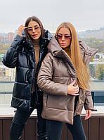 Зимняя теплая куртка Норма+Большого размера, Пуховики из экокожи, Теплый зимний пуховик, Красивый модный
