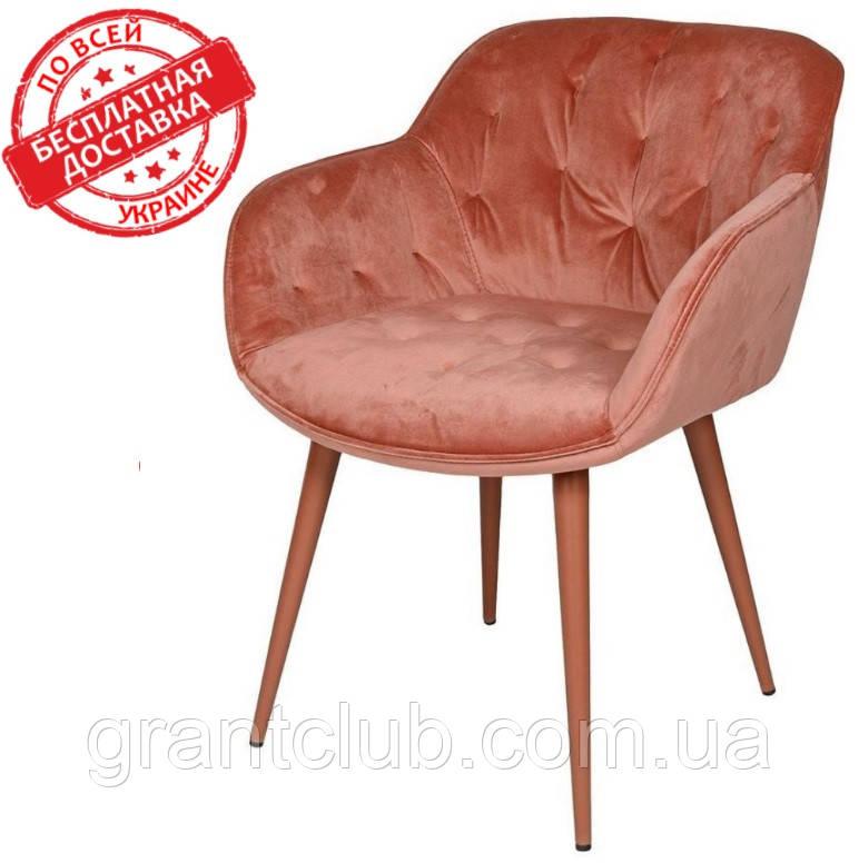 Кресло VIENA (Виена) терракот велюр 60*63*77 cm Nicolas