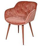 Кресло VIENA (Виена) терракот велюр 60*63*77 cm Nicolas, фото 2