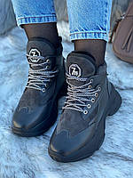 Ботинки женские зимние 6 пар в ящике серого цвета 36-40, фото 3