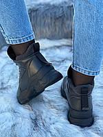 Ботинки женские зимние 6 пар в ящике серого цвета 36-40, фото 6