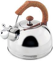 Чайник Wellberg Ergoria 2.3л из нержавеющей стали со свистком WB-509