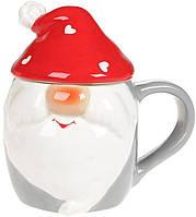 Кружка «Гномик в красной шапке» 450мл с керамической крышкой BD-DM749-X