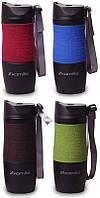 Термокружка Kamille Coffee 380мл с ремешком, нержавеющая сталь KM-2052A