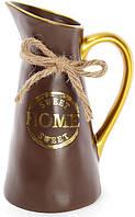 """Ваза керамическая """"Home sweet home"""" 25см, шоколадный кувшин BD-733-179"""