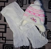 Шапка детская зимняя с шарфом TM Paola, на меху