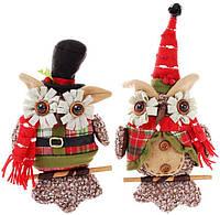 """Новогодняя мягкая игрушка """"Нарядная сова"""" 25см BD-842-104"""
