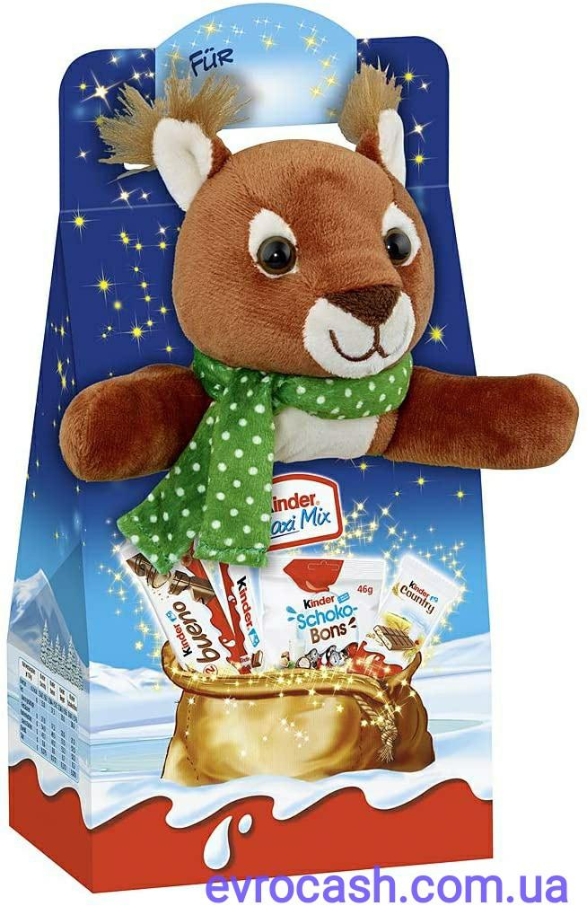 Новорічний шоколадний набір Kinder Maxi Mix з білочкою