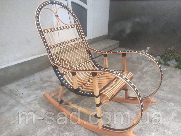 Кресло качалка плетеная из ротанга, фото 2