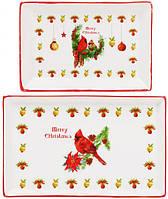 """Набор 3 фарфоровых блюда """"Merry Christmas"""" для сервировки в подарочной коробке BD-283-109"""