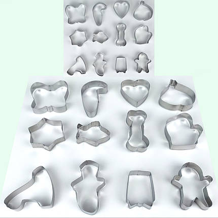 Формы для печенья из 12-ти штук на кольце ( 6 см - 9 см ) средняя, фото 2