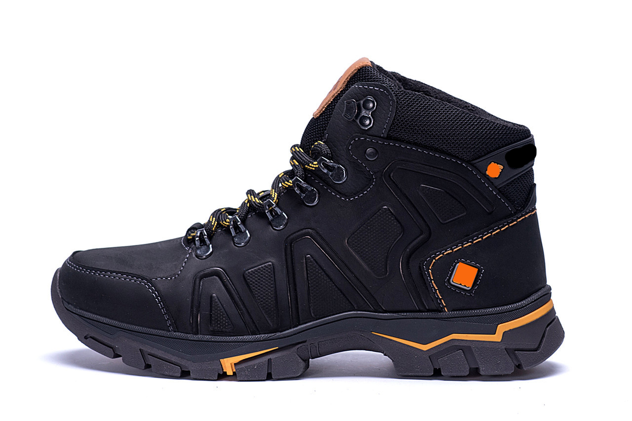 Мужские зимние кожаные ботинки Black р. 40