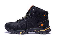 Мужские зимние кожаные ботинки Black р. 40, фото 1