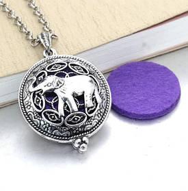 """Медальон для ароматерапии """"Слон""""с блоттером."""