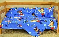 """Детский постельный комплект из турецкого ранфорса """"Щенячий патруль"""" - 100 %хлопок"""