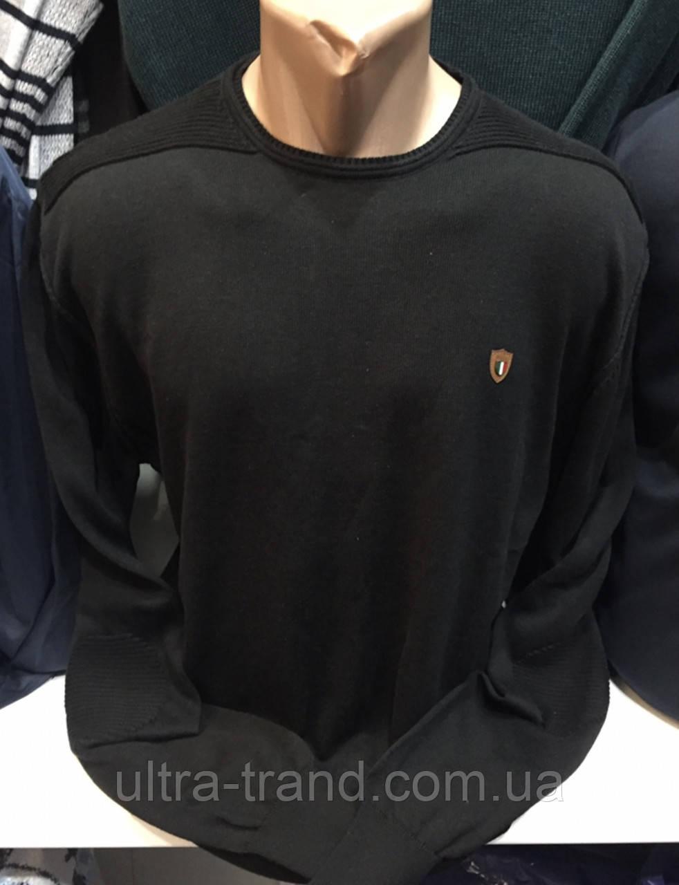 Турецкие мужские свитера свитшоты чёрного  цвета