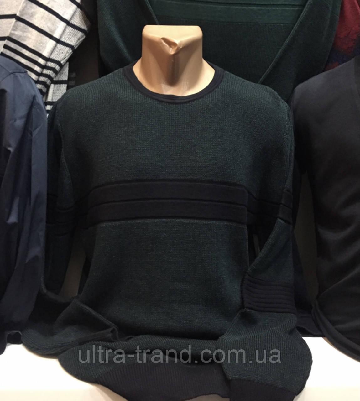 Турецкие мужские свитера  зеленогоцвета