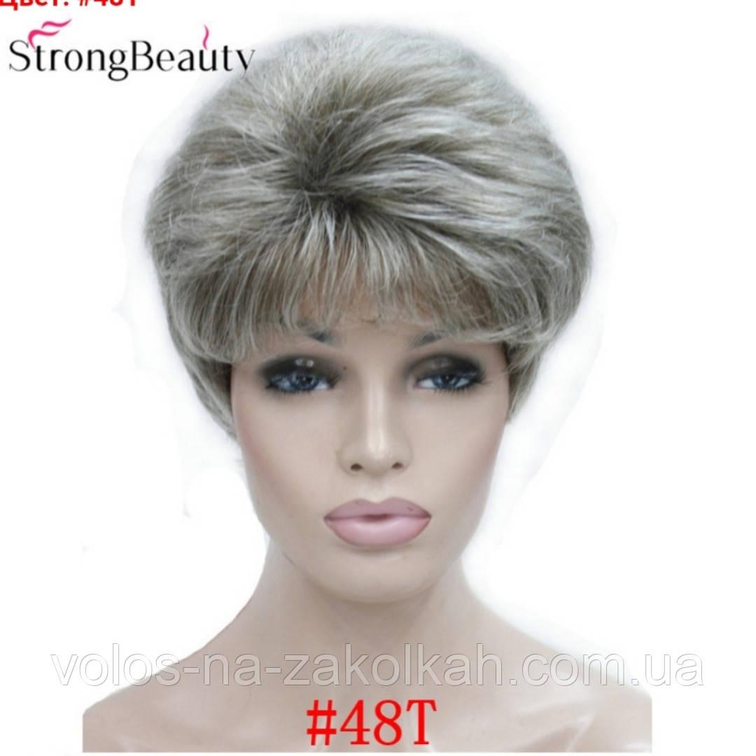 Парик короткая стрижка пепельный блонд 1123#5